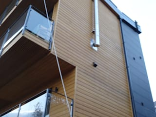 Bayview house, Swansea Modern balcony, veranda & terrace by Air Architecture Modern