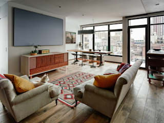Vinegar Hill Apartment Salas multimedia de estilo moderno de General Assembly Moderno