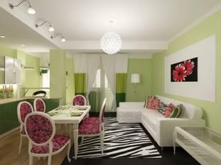 Дизайн студия Александра Скирды ВЕРСАЛЬПРОЕКТ Eclectic style dining room