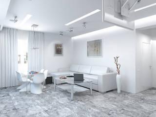 Дизайн студия Александра Скирды ВЕРСАЛЬПРОЕКТ Salon minimaliste