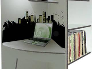 Workstation en carton: Bureaux de style  par MY NATURE BOX