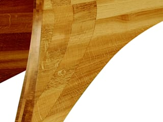 Dining table leg - showing the attractive - and practical - lamination work:   by Daniel Lacey Design & Furniture