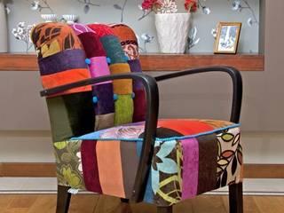Patchworkowe fotele: styl , w kategorii  zaprojektowany przez DECOPRACOWNIA