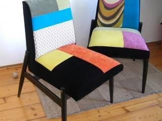 Patchworkowe fotele: styl , w kategorii Kuchnia zaprojektowany przez DECOPRACOWNIA