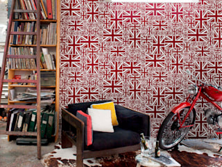 Stars & Stripes Wallpaper Collection di Paper Moon Moderno