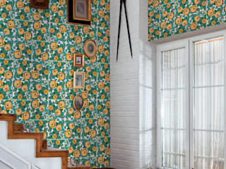 Tiles 'Digitally Printed' Wallpaper Collection de Paper Moon Rústico