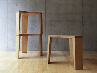 YATA stool de hirakoso DESIGN Moderno