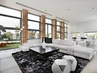 Living Rooms Family Rooms 现代客厅設計點子、靈感 & 圖片 根據 Moda Interiors 現代風