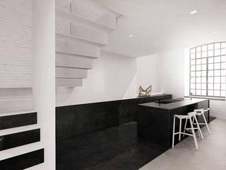 High - Contrast Loft Minimalistyczna kuchnia od Mess Architects Minimalistyczny