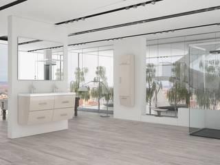 Muebles de baño modelo Wave lacado crema:  de estilo  de Baños Online