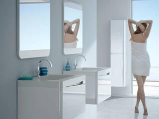 Mueble de baño Code suspendido blanco brillo:  de estilo  de Baños Online
