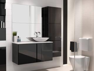 Mueble de baño modelo Michigan de 100 cms negro brillo: Baños de estilo escandinavo de Baños Online