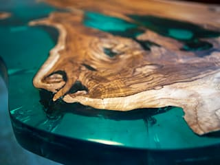 'Sea Horse' design coffee table close-up.: modern Living room by Neil Scott Furniture Limited