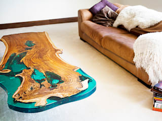 'Sea Horse' design coffee table:   by Neil Scott Furniture Limited