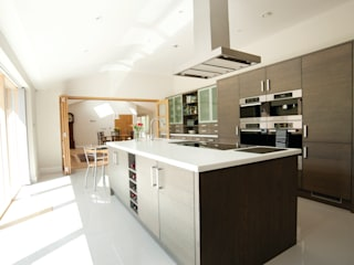 Mode Kitchen in Anthracite Oak Designed by Duncan Brown Stoneham Kitchens Modern kitchen