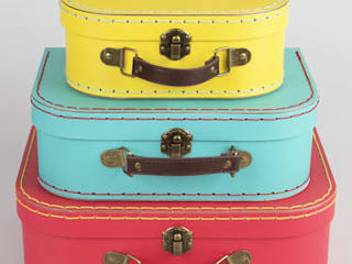 Set of 3 Brights Retro Suitcases:   by ihearthomes