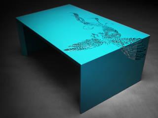 Paradise Table • Salontafel • Turquoise - • coffee table :   door ontwerpstudio Roi de Bruijn