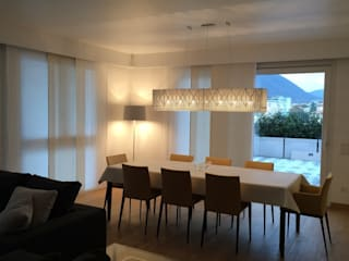 Private penthouse Archiluc's - Studio di Architettura Stefano Lucini Architetto Ruang Makan Modern