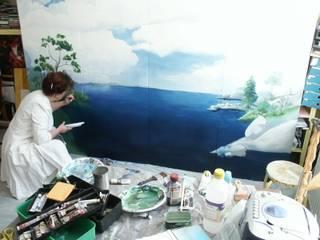 Trompe l'œil par Addenda, peintre decorateur Scandinave