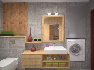 Студия дизайна Виктории Силаевой Salle de bain minimaliste