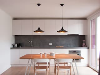 Flat in Annecy Antoine Chatiliez Modern Kitchen Wood White