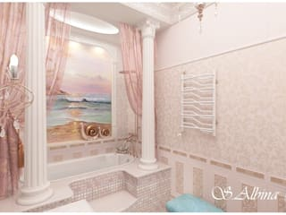 Bathroom by студия авторского дизайна  Альбины Сибагатулиной