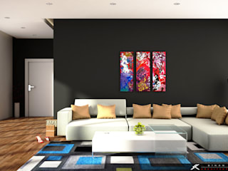 SK ARCHITECTURAL VISUALIZATION – Modern Salon (Modern Living Room):  tarz Oturma Odası