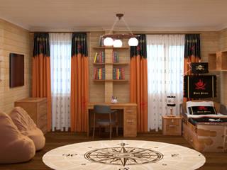 Детская спальня в пиратском стиле: Детские комнаты в . Автор –  Лойе Ирина