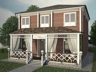 Фасад для загородного дома из клеённого бруса от Лойе Ирина