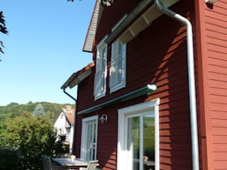 Haus Mora:  Terrasse von Skan-Hus Projekt GmbH