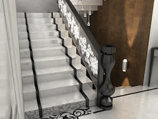 Галина Глебова 隨意取材風玄關、階梯與走廊