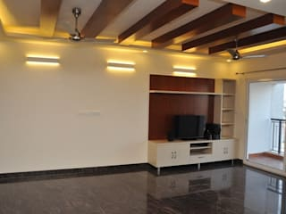 Private Client at Salarpuria Melody, Bangalore Country style living room by Arka Interio Country