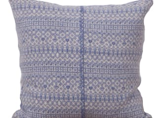 Soft blue/ linen 100% Lambs wool Cushion:   by Suzie Lee Knitwear