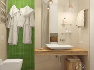 Minimalist style bathroom by Мастерская дизайна Welcome Studio Minimalist