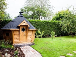 10m² Barbecue Cabin in a Derbyshire garden. :  Garden by Arctic Cabins