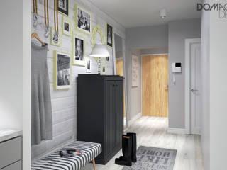 Biało Szary Czarny: styl , w kategorii Korytarz, przedpokój zaprojektowany przez DOMagała Design