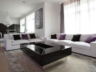 Eclectic style living room by Студия Максима Рубцова. Eclectic