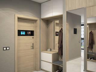 Minimalist corridor, hallway & stairs by HOMEFORM Студия интерьеров Minimalist