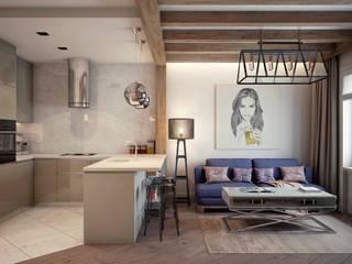 Квартира на ул. Савушкина Гостиная в стиле лофт от HOMEFORM Студия интерьеров Лофт