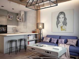 Industrial style living room by HOMEFORM Студия интерьеров Industrial