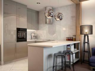 Квартира на ул. Савушкина Кухня в стиле лофт от HOMEFORM Студия интерьеров Лофт