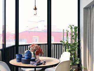 Balkon, Beranda & Teras Gaya Industrial Oleh HOMEFORM Студия интерьеров Industrial