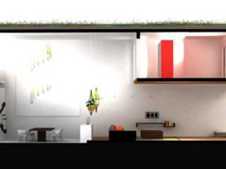 Coupe sur la maison: Maisons de style de style Moderne par Interlude Architecture