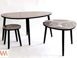 Spot and Dot Formica Tables:  Bars & clubs by Alison Milner