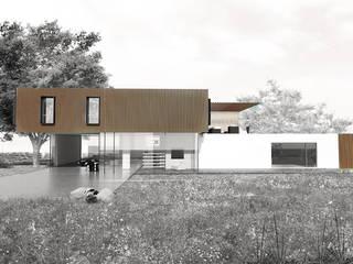 Vue Façade Sud Ouest: Maisons de style de style Moderne par Interlude Architecture