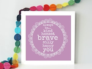 Always Sparkle's Bright & Colourful 'Paper Smiles' Framed Art Prints: modern  by Always Sparkle, Modern