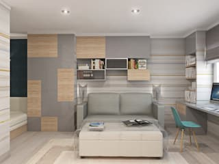 Ruang Keluarga oleh Roberts Design, Minimalis