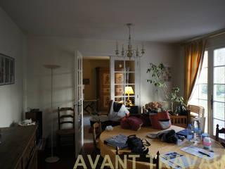 Rénovation maison Q. à St-Genis-Laval (Rhône) Salon classique par Marion Bochirol Architecte d'Intérieur CFAI Classique