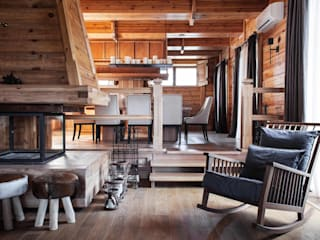 Rustic style dining room by Архитектор Татьяна Стащук Rustic
