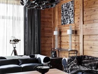 Salas de estar rústicas por Архитектор Татьяна Стащук Rústico